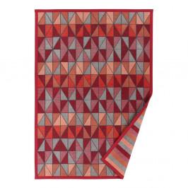 Červený vzorovaný obojstranný koberec Narma Treski, 70×140cm