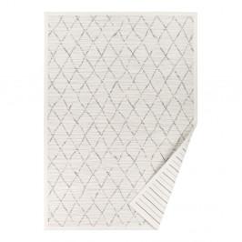 Biely vzorovaný obojstranný koberec Narma Vao, 140 × 200 cm