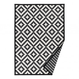 Čierno-biely vzorovaný obojstranný koberec Narma Viki, 160x230cm
