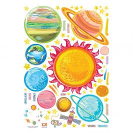 Sada nástenných samolepiek Ambiance Solar System Planets