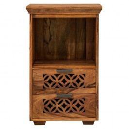 Knižnica z palisandrového dreva s 2 zásuvkami Massive Home Rosie