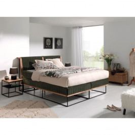 Tmavosivá dvojlôžková bo×spring posteľ Sinkro Berlin Calling, 180 × 200 cm
