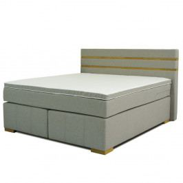 Sivá dvojlôžková bo×spring posteľ Sinkro Victoria, 180 × 200 cm
