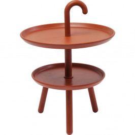 Oranžový odkladací stolík Kare Design Jacky, ⌀42cm