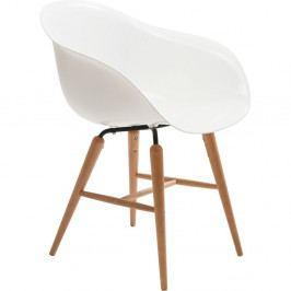 Biela jedálenská stolička Kare Design Armlehe Forum