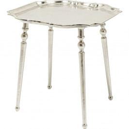 Odkladací stolík v striebornej farbe Kare Design Endris