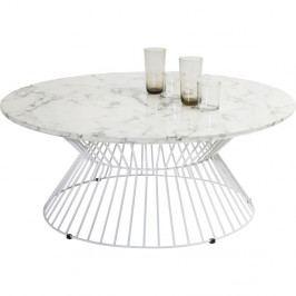 Biely odkladací stolík Kare Design Cintura, ⌀90cm