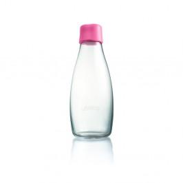 Svetloružová sklenená fľaša ReTap s doživotnou zárukou, 500ml