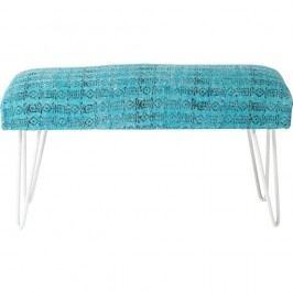 Modro-biela lavica Kare Design Izzy, 80 cm