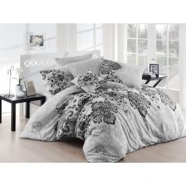 Sivé obliečky s plachtou Luxury Grey, 200x220cm