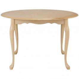Krémový jedálenský stôl z kaučukového dreva Støraa Charles, Ø 90 cm