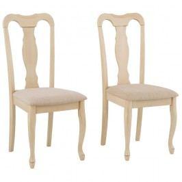 Sada 2 stoličiek z kaučukového dreva Støraa Charles