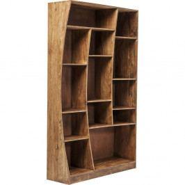 Asymetrická knižnica z akáciového dreva Kare Design Retangollo, pravá strana