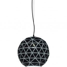 Čierne stropné svietidlo Kare Design Triangle, Ø 40 cm