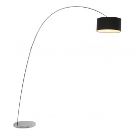 Čierna stojacia lampa Kare Design Gooseneck
