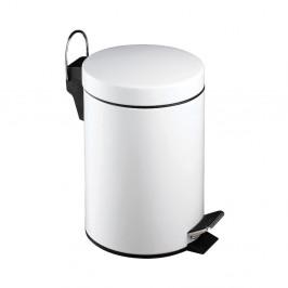 Biely pedálový odpadkový kôš Premier Housewares, 3 l