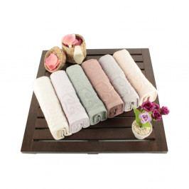 Sada 6 bavlnených uterákov Sal, 30 × 50 cm