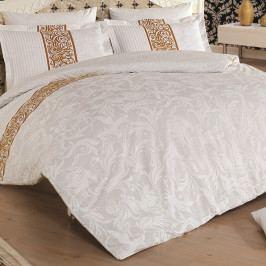 Obliečky z bavlneného saténu s plachtou na dvojlôžko Angelica, 200 x 220 cm