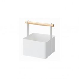 Biely multifunkčný boxYAMAZAKI Tosca Tool Box S, dĺžka16cm