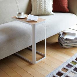Biely bočný stolík YAMAZAKI Frame