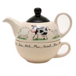 Kanvička s hrnčekom pre jedného z porcelánu Price&Kensington Home Farm, 400 ml