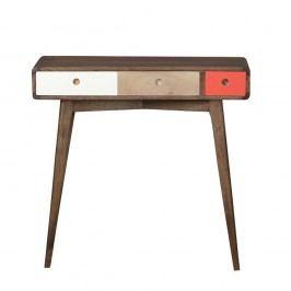 Konzolový stolík zmasívneho mangového dreva Woodjam Play Dark