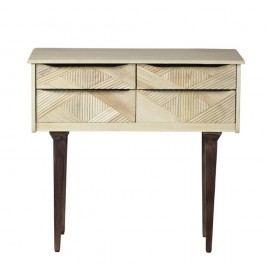 Konzolový stolík zmasívneho mangového dreva Woodjam Gatsby Raw