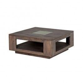 Konferenčný stolík zmasívneho sivo moreného akáciového dreva Zara