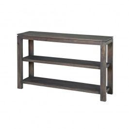 Konzolový stolík zmasívneho sivo moreného akáciového dreva Zara Simple