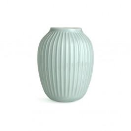 Mentolovomodrá kameninová váza Kähler Design Hammershoi, výška 25 cm