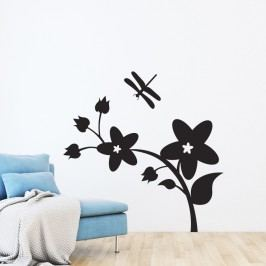 Samolepka Ambiance Flower And Dragonfly