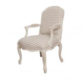 Krémová stolička s opierkami z brezového dreva Livin Hill Verona