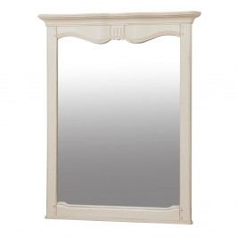 Zrkadlo s krémovým rámom z brezového dreva Livin Hill Verona