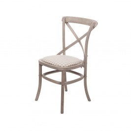 Béžová stolička z brezového dreva Livin Hill Venezia