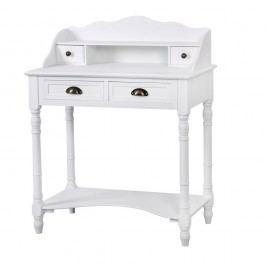 Biely písací stôl z topoľového dreva Livin Hill Latina