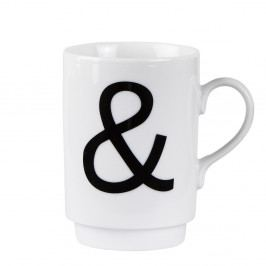 Porcelánový písmenkový hrnček KJ Collection Ampersand, 250 ml