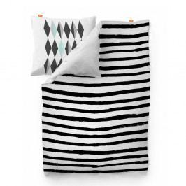 Bavlnená obliečka na paplón Blanc Stripes, 220×220 cm