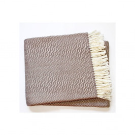 Hnedosivý pléd s podielom bavlny Euromant Skyline, 140×180 cm