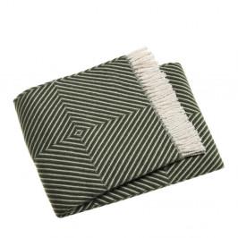 Zelený pléd s podielom bavlny Euromant Tebas, 140×180 cm