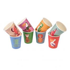 Sada 8 papierových téglikov Rex London Colourful Creatures