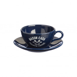 Tmavomodrá šálka stanierikom Mason Cash Varsity Cappuccino