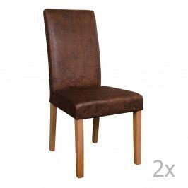 Sada 2 hnedých stoličiek House Nordic Mora