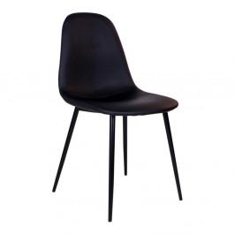 Sada 2 čiernych stoličiek s čiernymi nohami House Nordic Stokholm