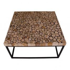 Čierny konferenčný stolík z teakového dreva House Nordic Knoxville
