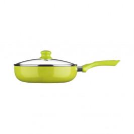 Zelená panvica s pokrievkou Premier Housewares, ⌀26cm