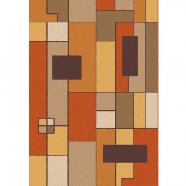 Oranžovo-hnedý koberec Universal Boras Rust, 57 x 110 cm