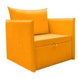 Žlté variabilné kreslo/lôžko 13Casa Furby Plus