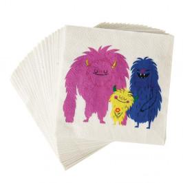 Sada 20 papierových obrúskov Rex London Monsters Of The World