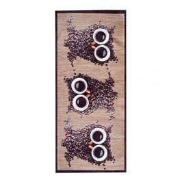 Vysokoodolný kuchynský koberec Webtappeti Gufocaffe, 60 x 110 cm