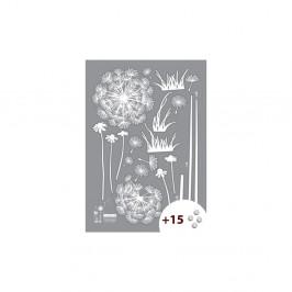 Set samolepky a 15 Swarovski krištáľov Ambiance Dandelion Flowers